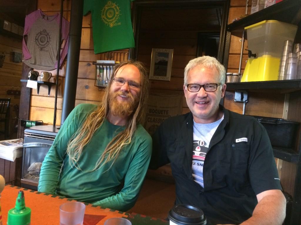 Namaste and his dad (aka Shawshank) at Keys Cafe