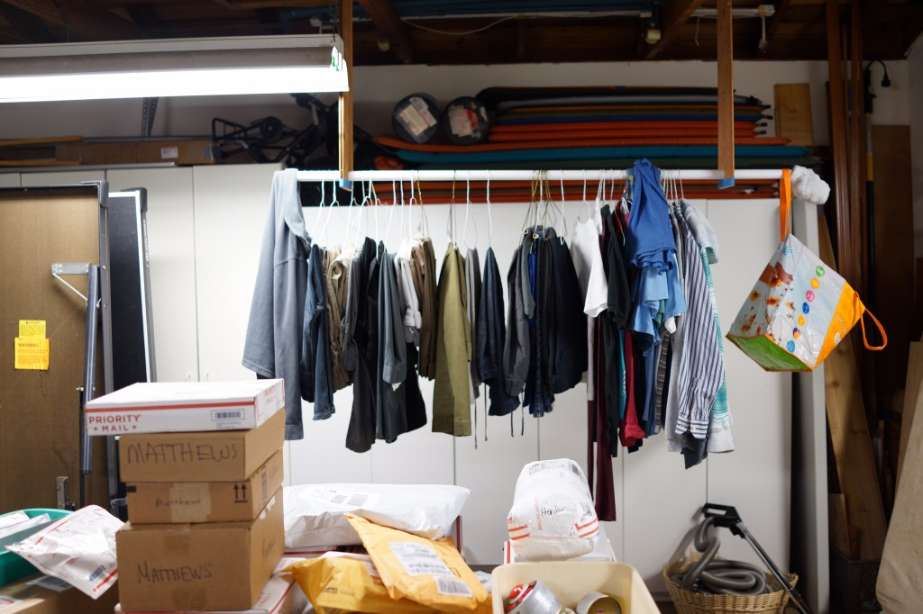 What the garages of experienced trail angels look like.