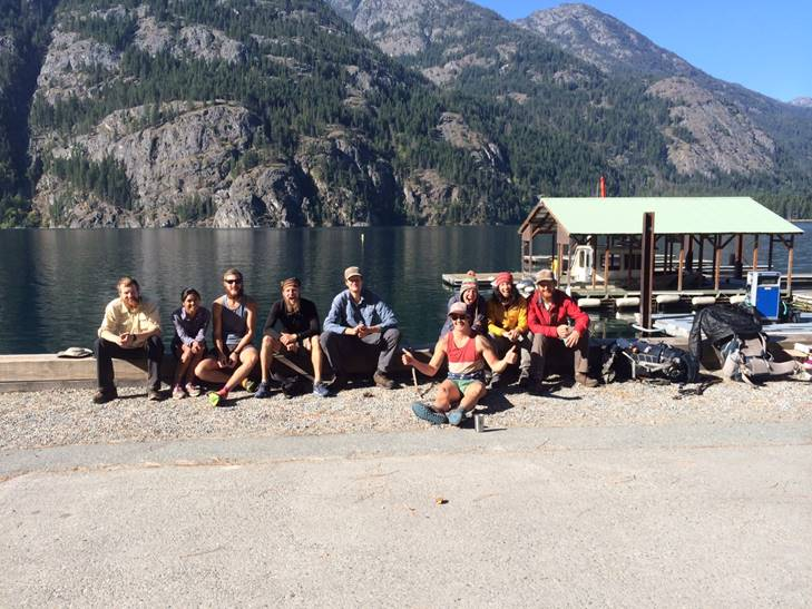 V, Goosebumps, Think Fast, Cheeseburger, Merica, Tin Tin, me, and Polar Bear at the Stehekin Landing